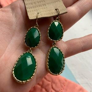 Francesca's Collections Jewelry - Emerald Green Statement Earrings